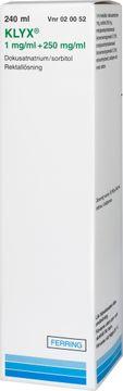 Klyx Rektallösning 1mg/ml+250mg/ml 240 milliliter
