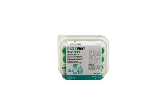Purevax RCP FeLV Frystorkat pulver och vätska till injektionsvätska, suspension 10 x 1 dos(er)
