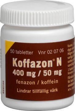 Koffazon N Mot migrän. Tablett 400 mg/50 mg 50 styck