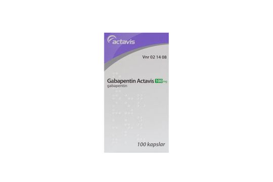 Gabapentin Actavis Kapsel, hård 100 mg 100 styck