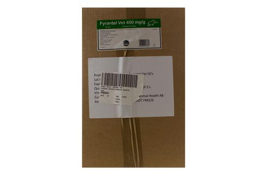 Fyrantel vet Oral pasta 400 mg/g 50 x 28,5 gram