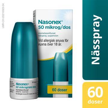 Nasonex 50 mikrogram/dos Mometasonfuroat, nässpray, suspension, 60 doser