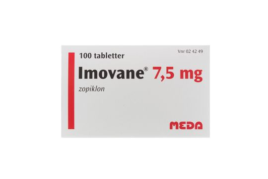 Imovane Tablett 7,5 mg Zopiklon 100 tablett(er)