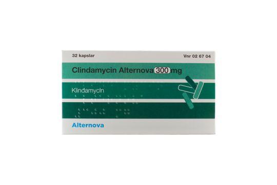 Clindamycin Alternova Kapsel, hård 300 mg Klindamycin 32 kapsel/kapslar