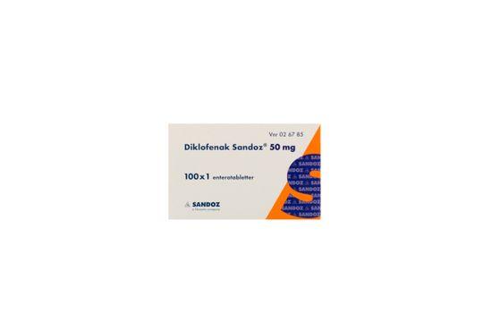Diklofenak Sandoz Enterotablett 50 mg Diklofenak 100 tablett(er)