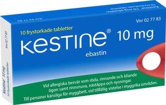 antihistamin receptfritt nässelutslag