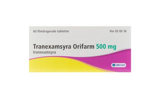 Tranexamsyra Orifarm Filmdragerad tablett 500 mg Tranexamsyra 60 styck