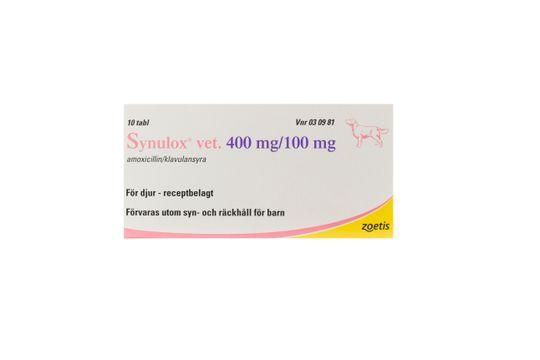Synulox vet. Tablett 400 mg/100 mg 10 styck
