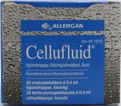 Cellufluid Ögondroppar, lösning i endosbehållare 30 x 0,4 milliliter