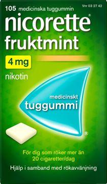 Nicorette Fruktmint 4 mg Medicinskt nikotintuggummi, 105 st
