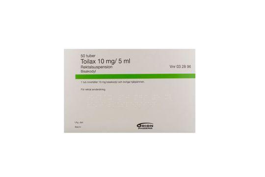 Toilax Rektalsuspension 10 mg/5 ml 50 x 5 milliliter