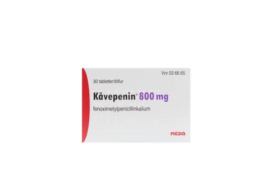 Kåvepenin Filmdragerad tablett 800 mg Fenoximetylpenicillin 30 styck