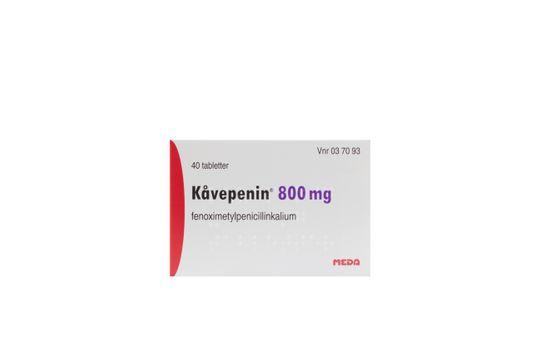 Kåvepenin Filmdragerad tablett 800 mg Fenoximetylpenicillin 40 styck