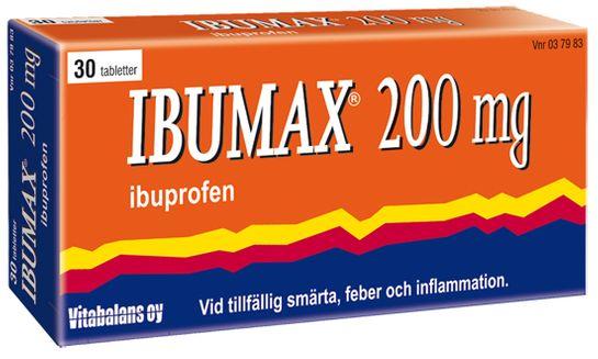 Ibumax 200 mg Ibuprofen, filmdragerad tablett, 30 st