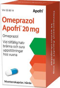 Omeprazol Apofri 20 mg Omeprazol, enterokapsel hård, 14 st