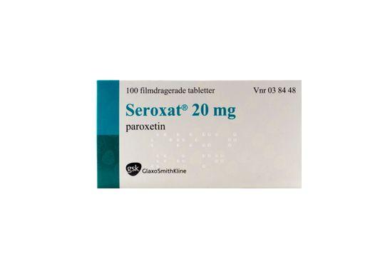 Seroxat Filmdragerad tablett 20 mg Paroxetin 100 styck