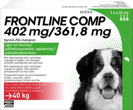 Frontline Comp 402 mg/361,8 mg Fipronil/Metopren, spot-on, lösning, 3x4,02 ml