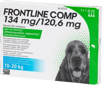 Frontline Comp134 mg/120,6 mg Fipronil/Metopren, spot-on, lösning 3x1,34 ml