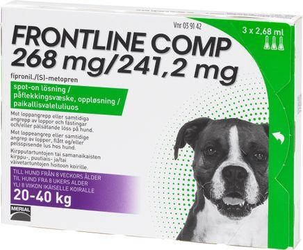 Frontline Comp 268 mg/241,2 mg Fipronil/Metopren, spot-on, lösning, 3 x 2,68 ml