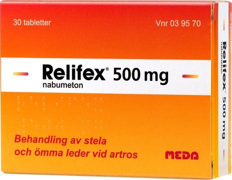 Relifex Filmdragerad tablett 500 mg Nabumeton 30 styck