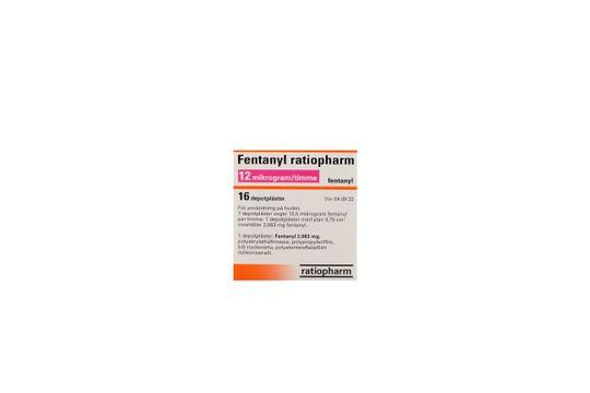 Fentanyl ratiopharm Depotplåster 12 mikrogram/timme Fentanyl 16 styck