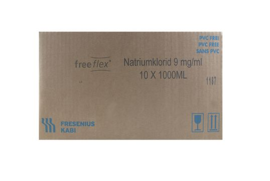 Natriumklorid Fresenius Kabi Infusionsvätska, lösning 9 mg/ml Natriumklorid 10 x 1000 milliliter