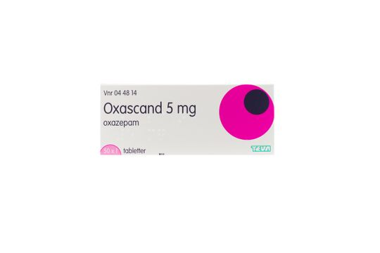 Oxascand Tablett 5 mg Oxazepam 50 x 1 tablett(er)