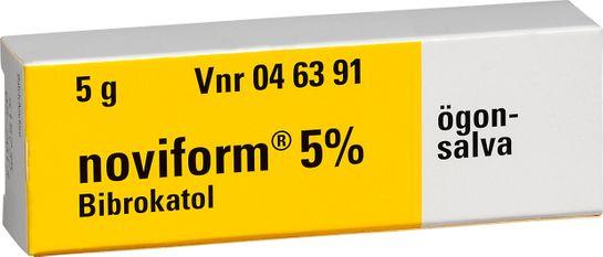 Noviform 5% Bibrokatol, ögonsalva, 5 g