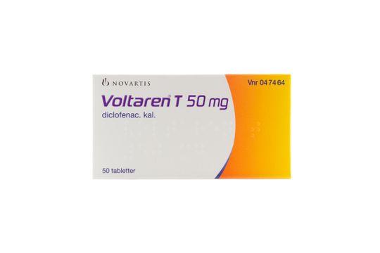 Voltaren T Dragerad tablett 50 mg Diklofenak 50 styck