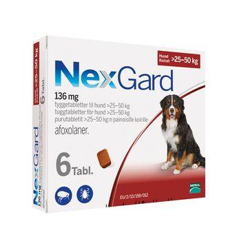 NEXGARD för hund >25-50 kg Tuggtablett 136 mg 6 tablett(er)
