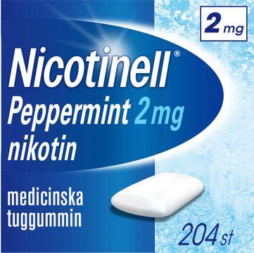 Nicotinell Peppermint Medicinskt nikotintuggummi, 2 mg, 204 st