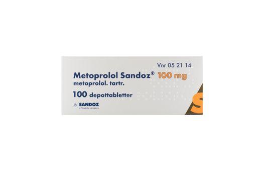 Metoprolol Sandoz Depottablett 100 mg Metoprolol 100 styck