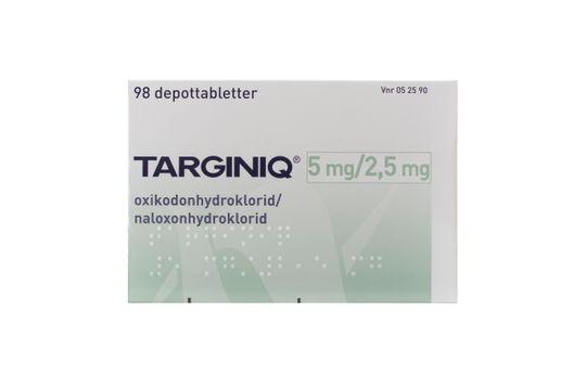 Targiniq Depottablett 5 mg/2,5 mg Oxikodon + Naloxon 98 tablett(er)