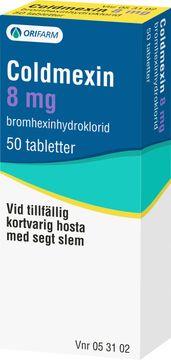 Coldmexin 8 mg Bromhexin, tablett, 50 st