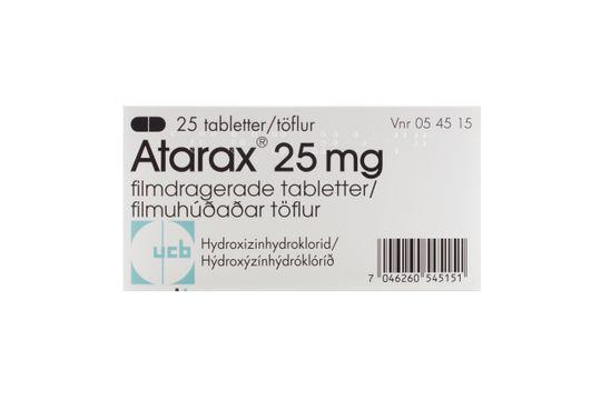Atarax Filmdragerad tablett 25 mg Hydroxizin 25 styck