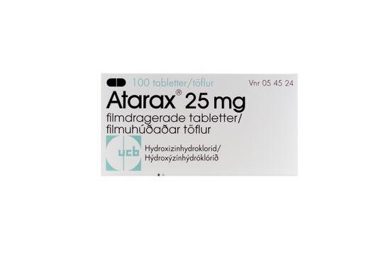 Atarax Filmdragerad tablett 25 mg Hydroxizin 100 styck