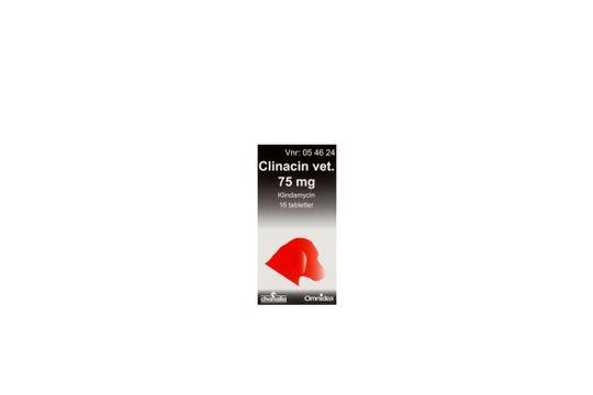 Clinacin vet. Tablett 75 mg 16 tablett(er)