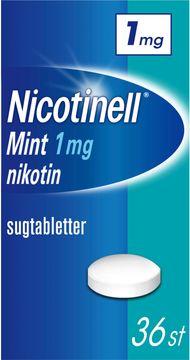 Nicotinell Mint Komprimerad sugtablett med nikotin, 1 mg, 36 st