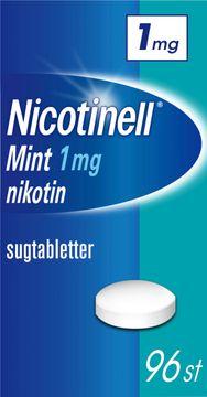 Nicotinell Mint 1 mg Nikotin, komprimerad sugtablett, 96 st