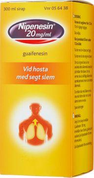 Nipenesin 20 mg/ml Guaifenesin, sirap, 300 ml