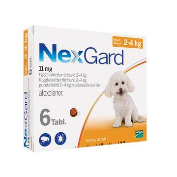 NEXGARD för hund 2-4 kg Tuggtablett 11,3 mg 6 tablett(er)
