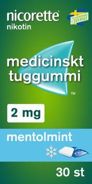 Nicorette Mentolmint Medicinskt nikotintuggummi, 2 mg, 30 st