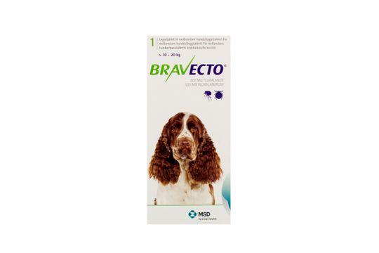 Bravecto för mellanstora hundar (>10-20 kg) Tuggtablett 500 mg 1 tablett(er)