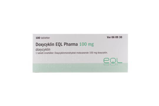 Doxycyklin EQL Pharma Tablett 100 mg Doxycyklin 100 tablett(er)
