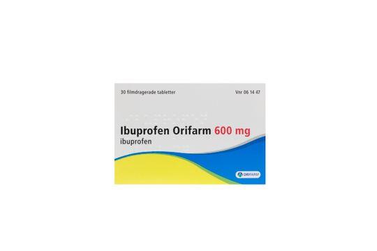 Ibuprofen Orifarm Filmdragerad tablett 600 mg Ibuprofen 30 tablett(er)