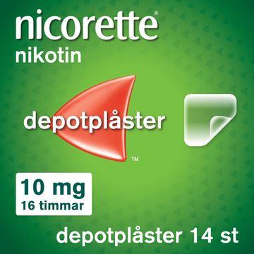 Nicorette Novum 10 mg/16 Timmar Depotplåster, 14 st