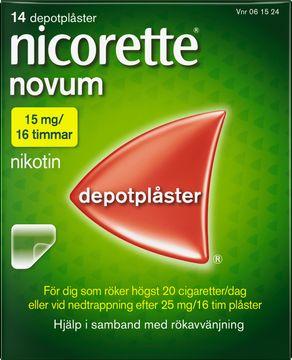 Nicorette Novum Depotplåster 15 mg/16 timmar, 14 st