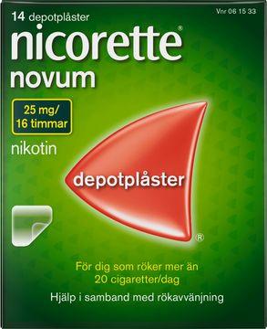 Nicorette Novum 25 mg/16 Timmar Depotplåster, 14 st