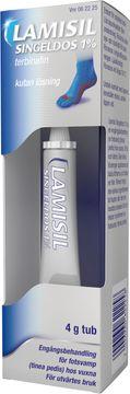 Lamisil Singeldos 1% Terbinafinhydroklorid, kutan lösning, 4 g