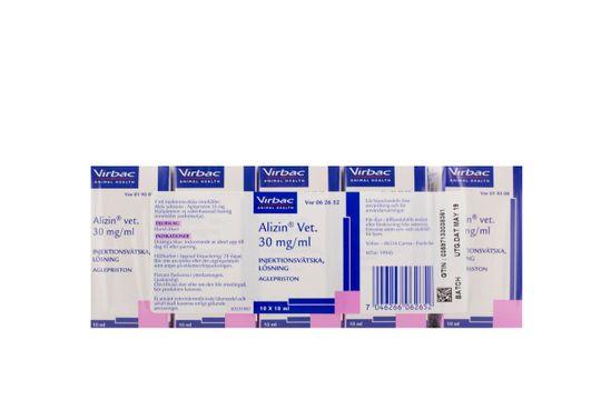 Alizin vet. Injektionsvätska, lösning 30 mg/ml 10 x 10 milliliter